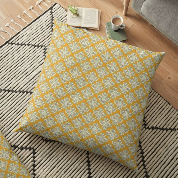 Biba Inspired Orange  Floor Pillow
