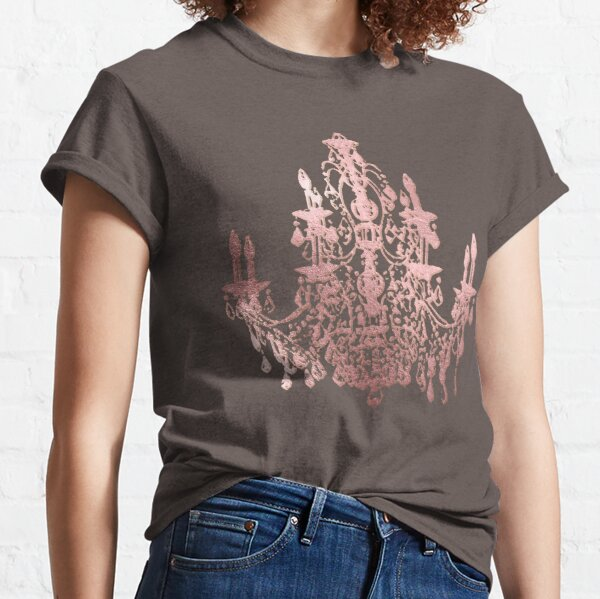 Faux Rose Gold Chandelier Classic T-Shirt