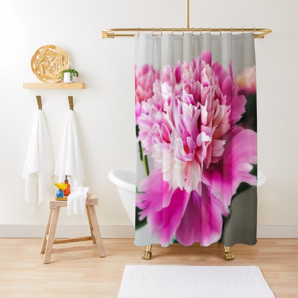 Gift for Gardener - Pink Peonies Shower Curtain