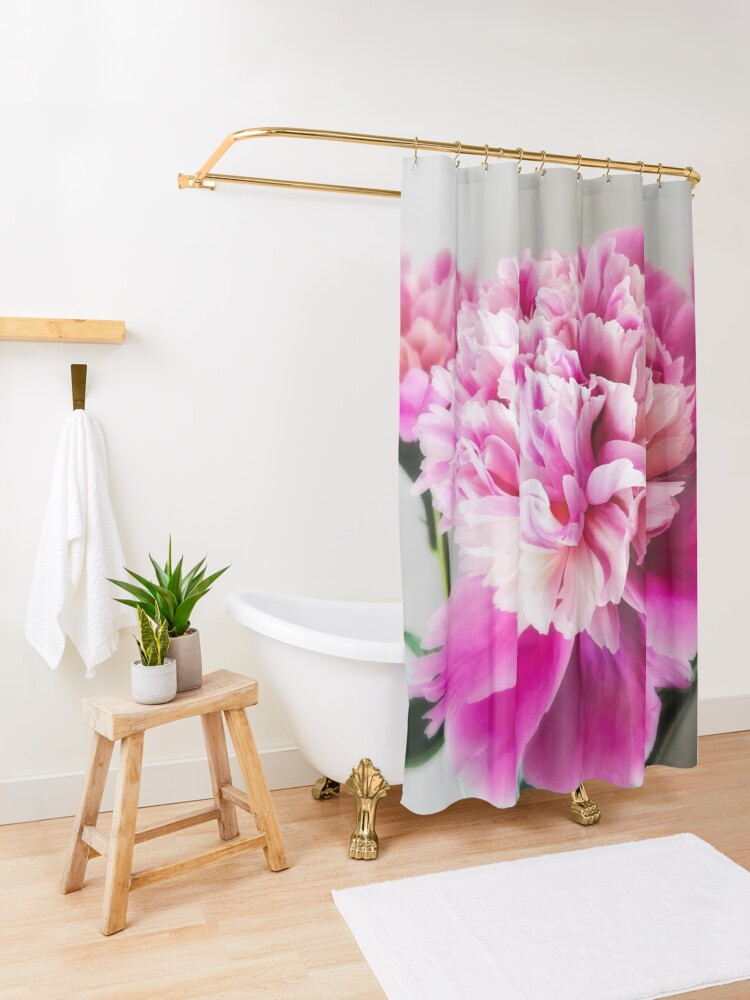 Alternate view of Gift for Gardener - Pink Peonies Shower Curtain
