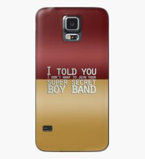 Super Secret Boy Band Case/Skin for Samsung Galaxy