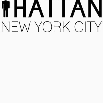 Man hattan Tee - New York City - Black Lettering by manhattantee