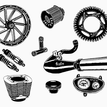 Parts & Accessories Illustration by GASOLINESK00T