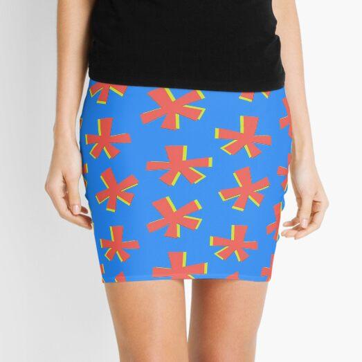 Asterisk Print  Mini Skirt