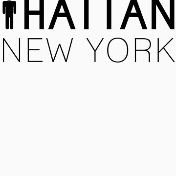 Man hattan Tee - New York - Black Lettering by manhattantee