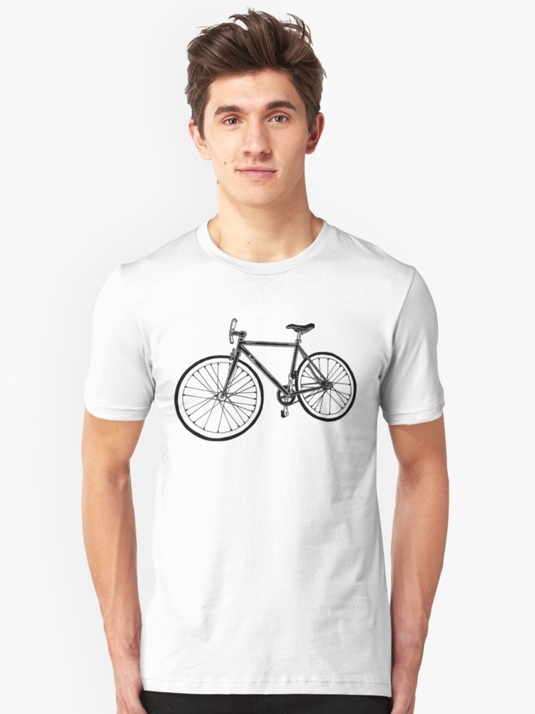 Bicycle Illustration Unisex T-Shirt Front