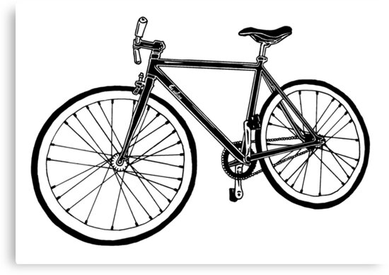 Bicycle Illustration by GASOLINE DESIGN