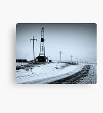 A Cold Days Work Canvas Print