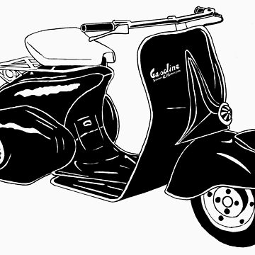 Classic Scooter Illustration by GASOLINESK00T
