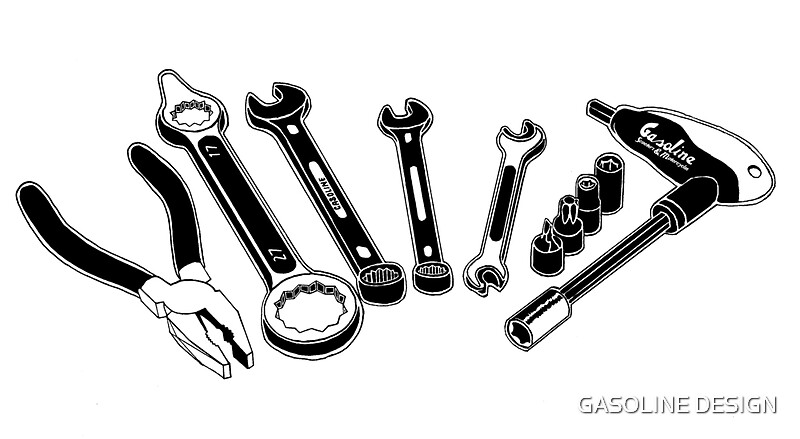"""""""Mechanic Tools Illustration"""" Posters by GASOLINE DESIGN ..."""