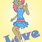 80s Cartoon Pinup Love by CatAstrophe