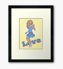 80s Cartoon Pinup Love Framed Print