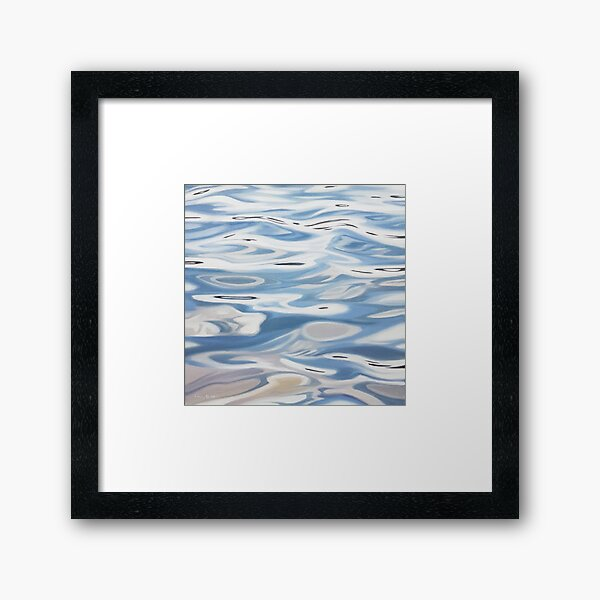 Plotline - water painting Framed Art Print