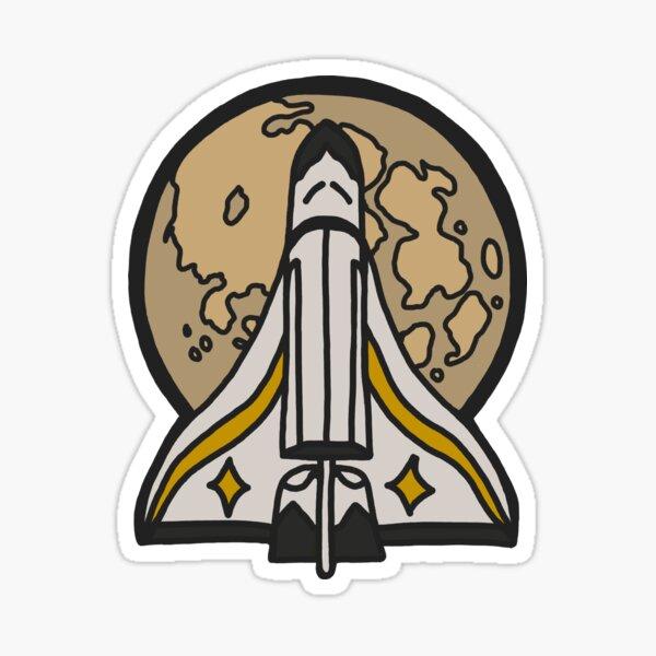 Ellie Spaceship Pin Last Of Us Part 2 Sticker