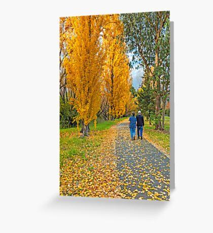 The Poplar Trail Greeting Card