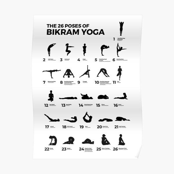The 26 Poses Of Bikram Yoga  Poster