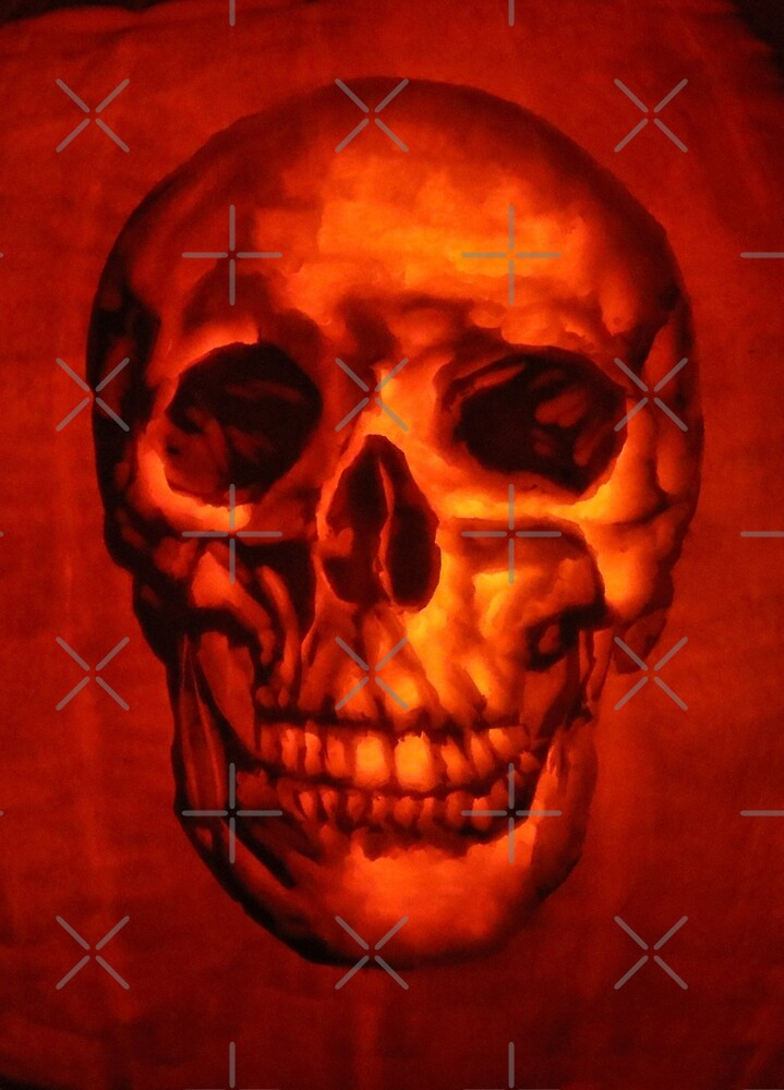 Skull from a Pumpkin Carving by MotiBlack