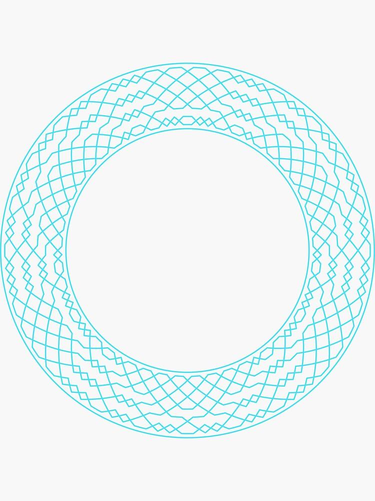 London Surprise Major Method Wreath — Stickers (Blue) by RingingRoom