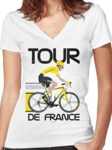 Tour De France Women's Fitted V-Neck T-Shirt