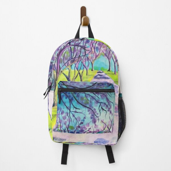 Purple trees Jacaranda avenue painting  Backpack