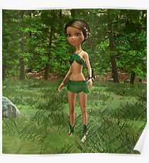 Forest Elf Girl Poster