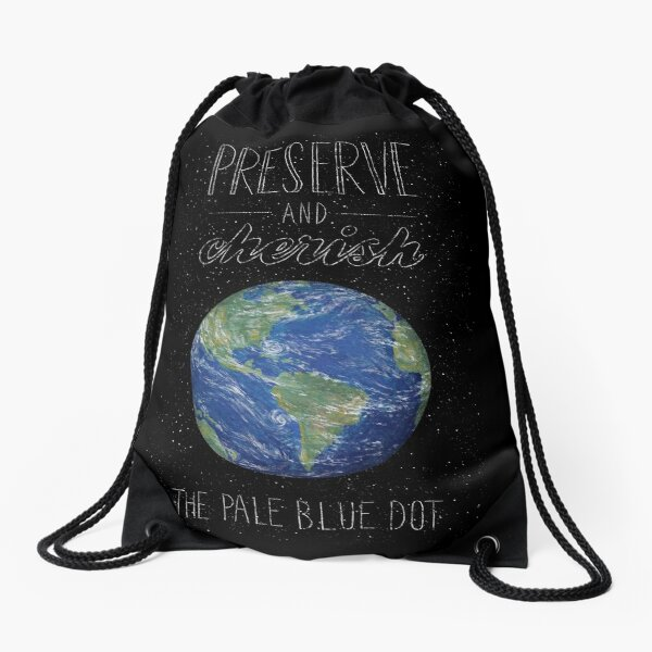 Pale Blue Dot Drawstring Bag