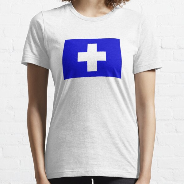 Flag of the Greek Island of Icaria Essential T-Shirt