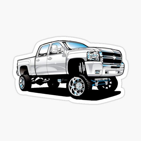 Chevrolet Silverado levantado Pegatina