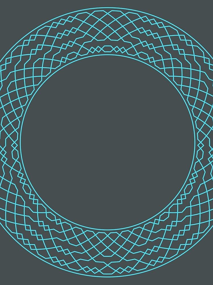 London Surprise Major Method Wreath — Scarf (Blue) by RingingRoom