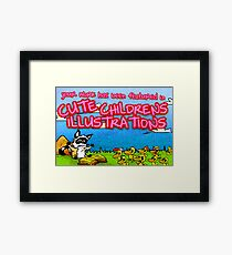 Cute Childrens Illustrations Featured Banner Framed Print