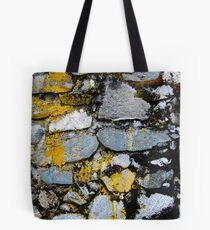 Rock Wall with Lichen Tote Bag