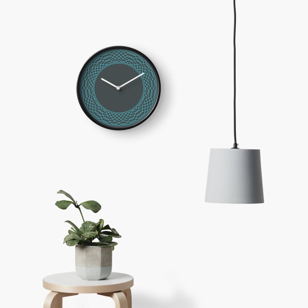 London Surprise Major Method Wreath — Clock (Blue) Clock
