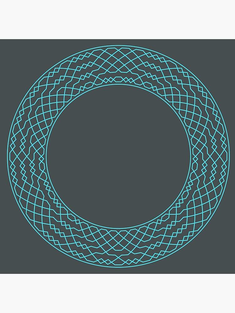 London Surprise Major Method Wreath — Clock (Blue) by RingingRoom