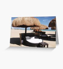 An empty beach in Egypt Greeting Card