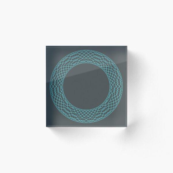 London Surprise Major Method Wreath — Coasters (Blue) Acrylic Block