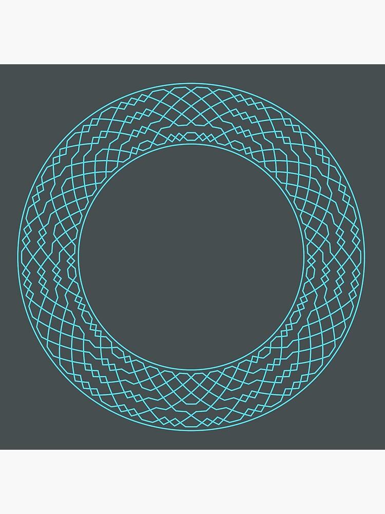 London Surprise Major Method Wreath — Coasters (Blue) by RingingRoom