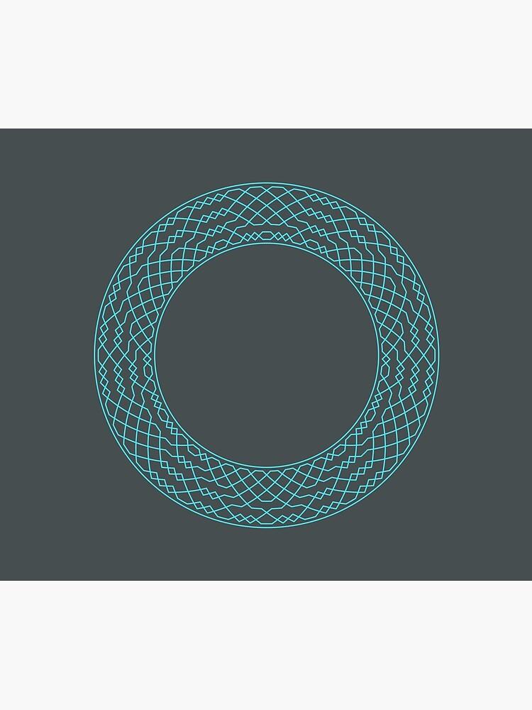 London Surprise Major Method Wreath — Blanket (Blue) by RingingRoom
