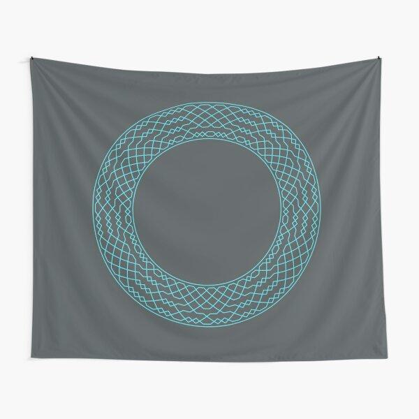 London Surprise Major Method Wreath — Blanket (Blue) Tapestry