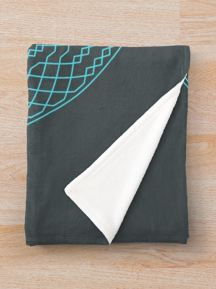 Alternate view of London Surprise Major Method Wreath — Blanket (Blue) Throw Blanket