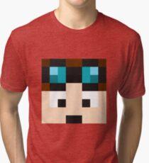 TheDiamondMinecart Minecraft skin Tri-blend T-Shirt