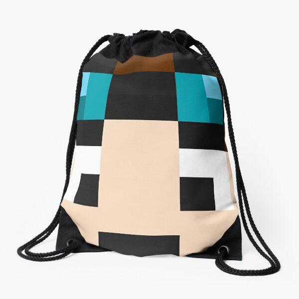 TheDiamondMinecart Minecraft skin Drawstring Bag