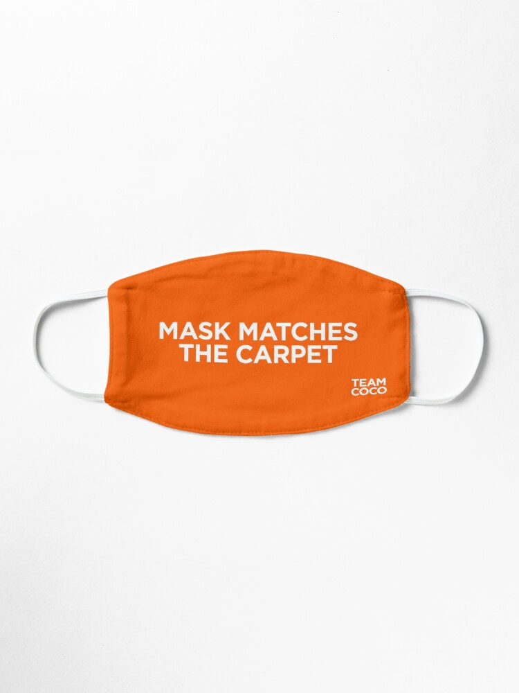 Alternate view of Team Coco Mask Matches The Carpet (Orange) Mask
