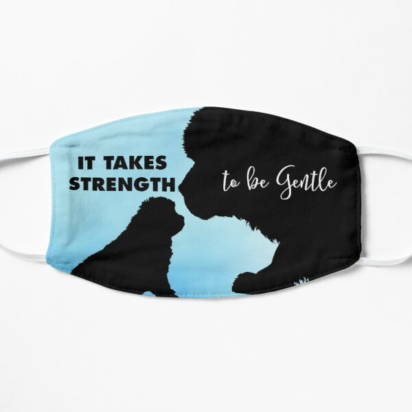 It Takes Strength to be Gentle Mask in Blue Flat Mask