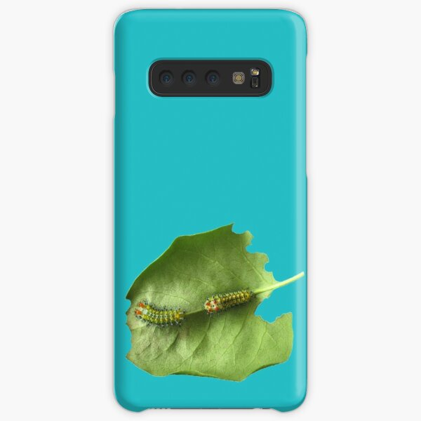 Cecropia Caterpillar Eating Leaf Samsung Galaxy Snap Case