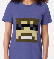 ssundee Minecraft skin Tri-blend T-Shirt