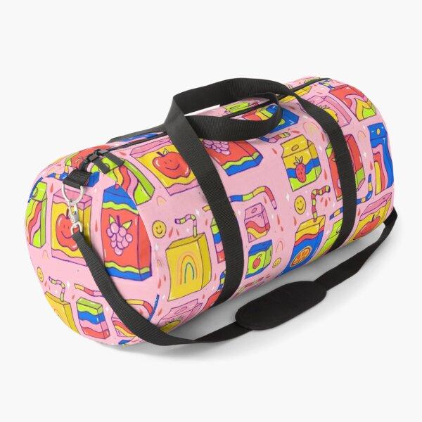 Juice Box Print Duffle Bag
