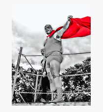 in Red Photographic Print