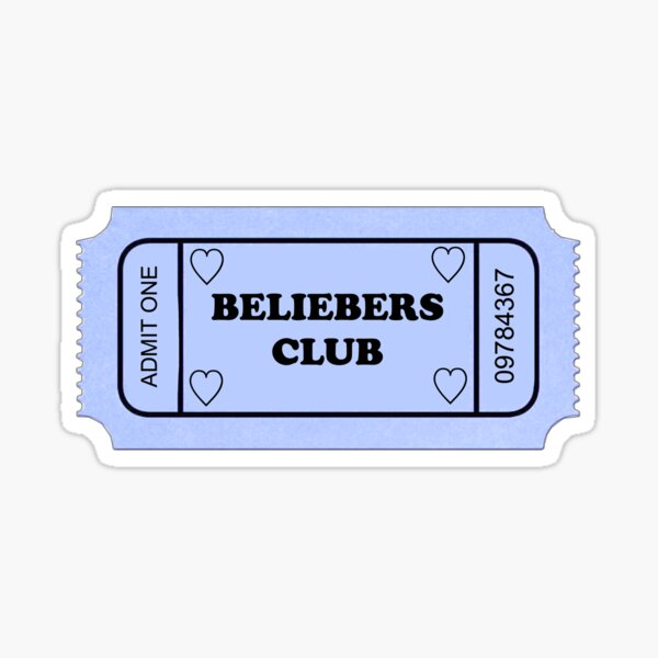 BILLET JUSTIN BIEBER BELIEBER CLUB Sticker