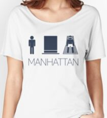 Man hat tan Tee -  Yankee Blue Lettering Women's Relaxed Fit T-Shirt