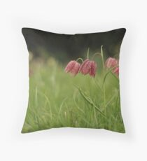 Wild flower meadow at Downton Abbey Throw Pillow